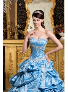 Aqua Perfect Quinceanera Dress with Short Sleeves Jacket