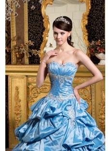 Aqua Perfect Quinceanera Dress with Short Sleeves Jacket