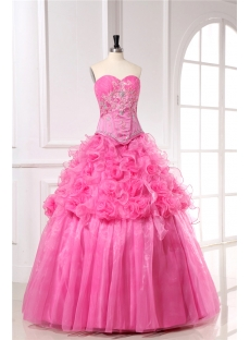 Basque Plus Size Quinceanera Ball Gown Dresses