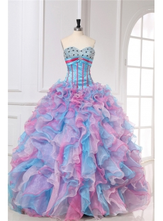 Beaded Bright Colorful Quinceanera Dresses 2013