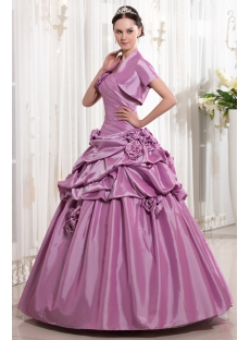 Beautiful Lilac Cute Quinceanera Gown with Short Jacket