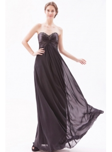 Black Empire Pregnant Long Cocktail Dress