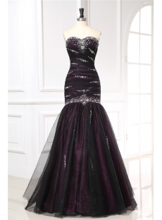 Black Fishtail Military Evening Dresses