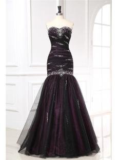 Black Fishtail Military Evening Dresses
