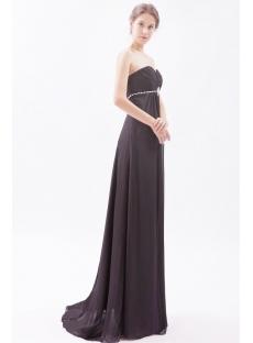 Black Long Chiffon Pregnant Prom Dresses with Sweetheart:1st-dress.com