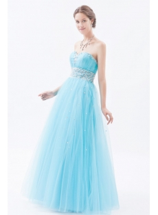 Blue Fantastic Sweetheart Quinceanera Gowns