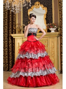 Brilliant Leopard Quinceanera Gown with Corset