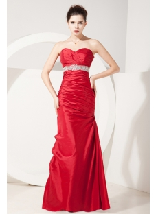 Brilliant Red Long Affordable Quinceanera Dresses