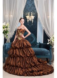 Brown Luxury Best Pretty Quinceanera Dress