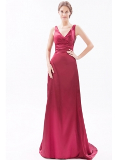 Burgundy Formal Evening Dresses for Petite Women