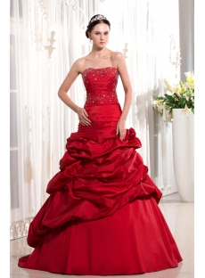 Burgundy Long Sheath Pretty Quinceanera Gown