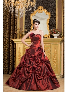 Burgundy Ostrich Feather Quinceanera Dresses 2013