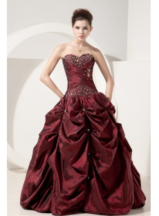 Burgundy Simple Quinceanera Dresses Discount