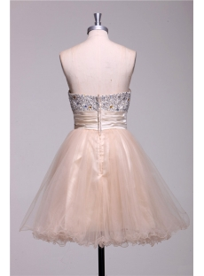 Champagne Beaded Short Quinceanera Court Dresses 1st Dress Com