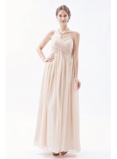 Champagne Chiffon Empire Maternity Prom Dresses