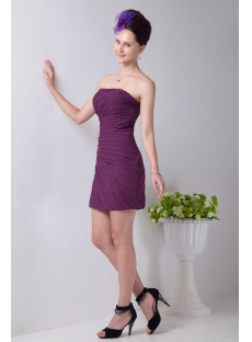 Charming Grape Mini Cocktail Dress with Sweetheart