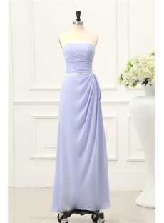 Charming Lavender Long Graduation Gown for College