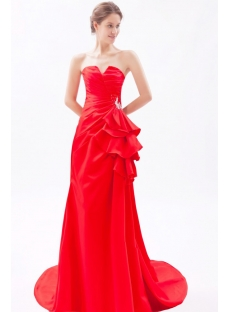 Charming Red Sheath Homecoming Dresses