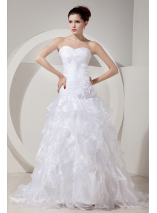 Charming White Modest Bridal Gowns with Drop Waist