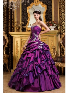 chic purple long corset princess quinceanera dress1st