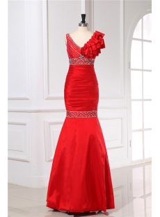 Chic Red Mermaid Party Dresses under 200