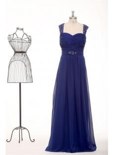 Chic Royal Blue Straps Plus Size Modest Bridesmaid Dresses