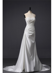 Chic Satin Column Wedding Dress with Shawl