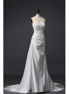 Chic Satin Column Wedding Dress with Shawl