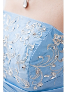 chic turquoise strapless taffeta 2014 quinceanera dress