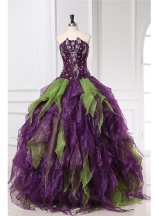 Colorful Ruffled Pretty Quinceanera Dresses