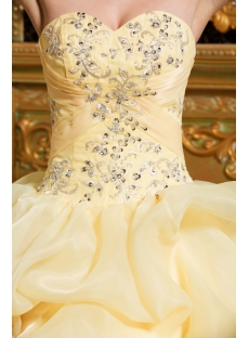 Corn Yellow 15 Quinceanera Dresses 2012