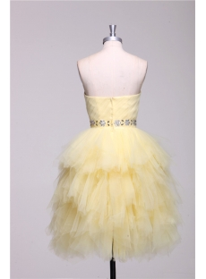 Cute Yellow Short Quinceanera Dresses with Sweetheart