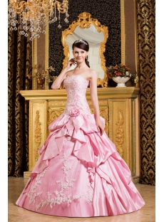 Drop Waist Pink 15 Quinceanera Dress for Spring