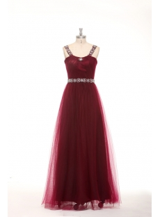 Elegant Beaded Straps Burgundy Plus Size Quinceanera Dresses