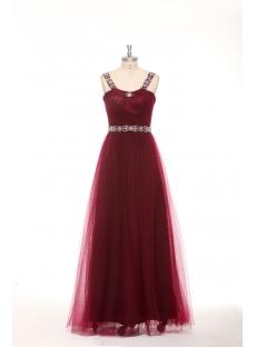 Elegant Beaded Straps Burgundy Plus Size Quinceanera Dresses