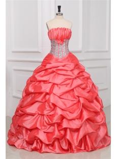 Exquisite Watermelon Princess Quince Gown Dress