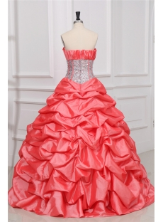 Exquisite Watermelon Princess Quince Gown Dress