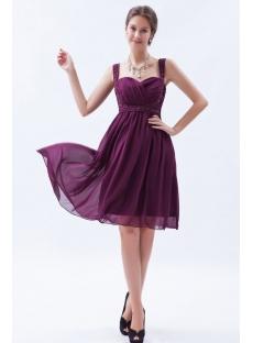 Fabulous Grape Chiffon Graduation Dress with Sweetheart