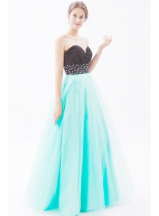 Fabulous Long Sweet Sage and Black Sweet 16 Gown