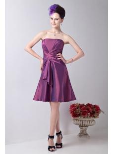 Fuchsia Chic Junior Bridesmaid Dress with Strapless