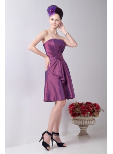 Fuchsia Chic Junior Bridesmaid Dress with Strapless