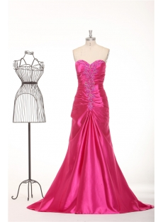 Fuchsia Sheath 2013 Evening Dresses with Keyhole