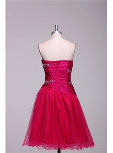 Fuchsia Short Graduation Dresses for 8th Grade
