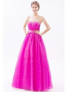 Graceful Hot Pink Pretty Quinceanera Gown