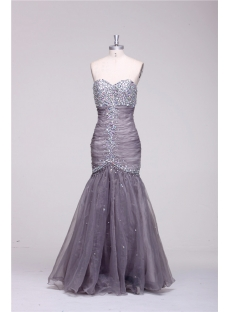Gray Curves Sheath Mermaid Pretty Prom Dresses
