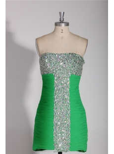 Green Mini Celebrity Dresses 2013 for Sale