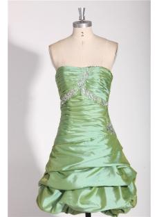Green Pick up Short Cocktail Dress