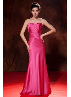 Hot Sale Fuchsia Strapless Sheath Prom Dress 2013