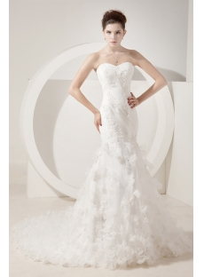 Ivory Mermaid Mature Bridal Gown with Corset