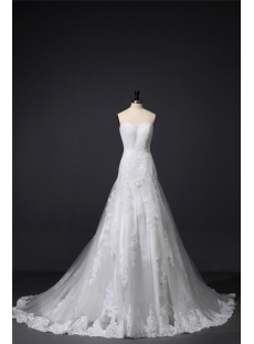 Ivory Sheath Lace Bridal Gown Timeless Classic